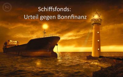 Schiffsfonds: Bonnfinanz zum Schadensersatz verurteilt(*)