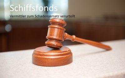 Schiffsfonds: Anlageberater zum Schadensersatz verurteilt(*)